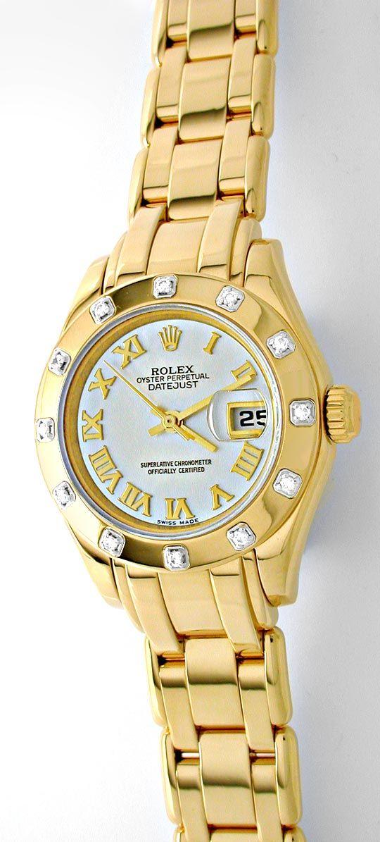 Foto 2, Rolex Lady-Datejust Pearlmaster Diamanten Geprüft Neuz., U1009
