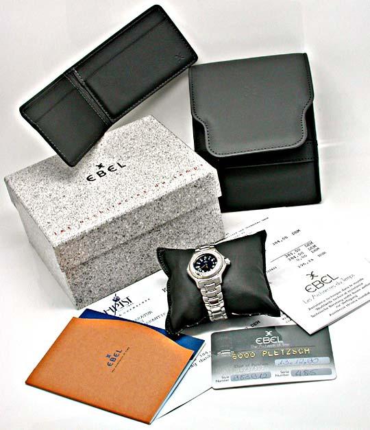 Foto 5, Ebel Discovery Damen-Armbanduhr Edelstahl Topuhr Neuz.!, U1012