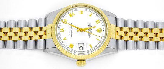Foto 1, Rolex Datejust Hr Stahlgold Chronometer Topuhr Neuzust., U1015