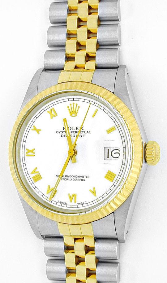 Foto 2, Rolex Datejust Hr Stahlgold Chronometer Topuhr Neuzust., U1015