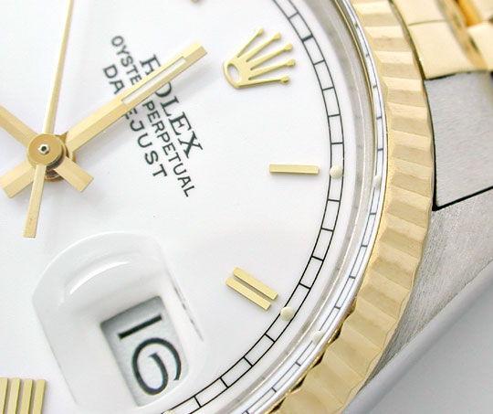Foto 3, Rolex Datejust Hr Stahlgold Chronometer Topuhr Neuzust., U1015