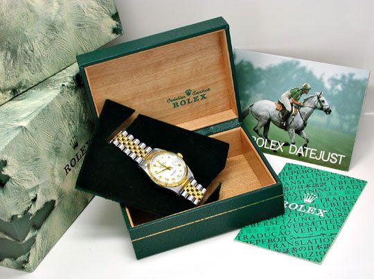 Foto 5, Rolex Datejust Hr Stahlgold Chronometer Topuhr Neuzust., U1015