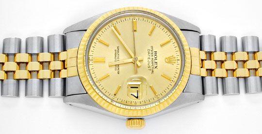 Foto 1, Rolex Datejust Jubilee Herr Stahl-Gold Automatik Topuhr, U1017