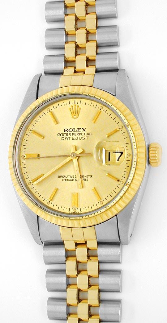 Foto 2, Rolex Datejust Jubilee Herr Stahl-Gold Automatik Topuhr, U1017
