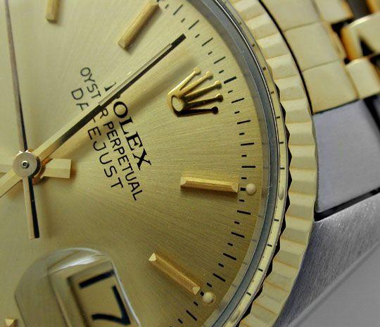 Foto 3, Rolex Datejust Jubilee Herr Stahl-Gold Automatik Topuhr, U1017