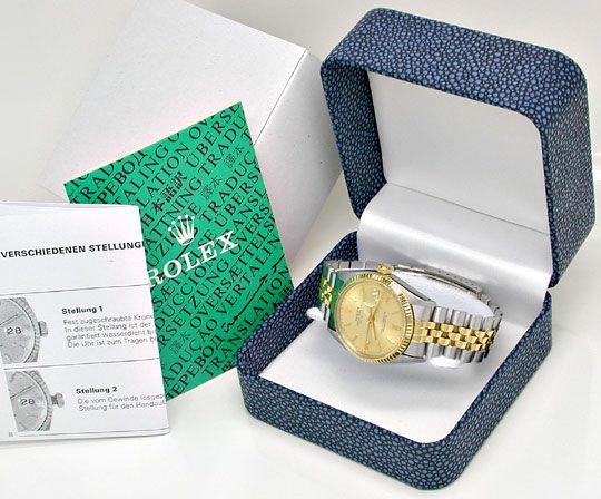 Foto 5, Rolex Datejust Jubilee Herr Stahl-Gold Automatik Topuhr, U1017