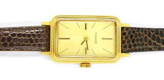 Foto 1, Tissot, Damen-Armbanduhr, 14K-Gelbgold Shop Ungetragen!, U1019