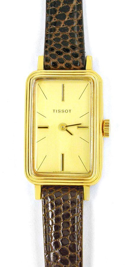 Foto 2, Tissot, Damen-Armbanduhr, 14K-Gelbgold Shop Ungetragen!, U1019