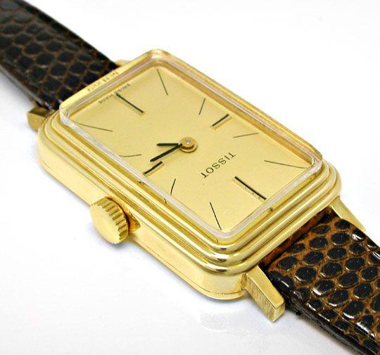 Foto 3, Tissot, Damen-Armbanduhr, 14K-Gelbgold Shop Ungetragen!, U1019