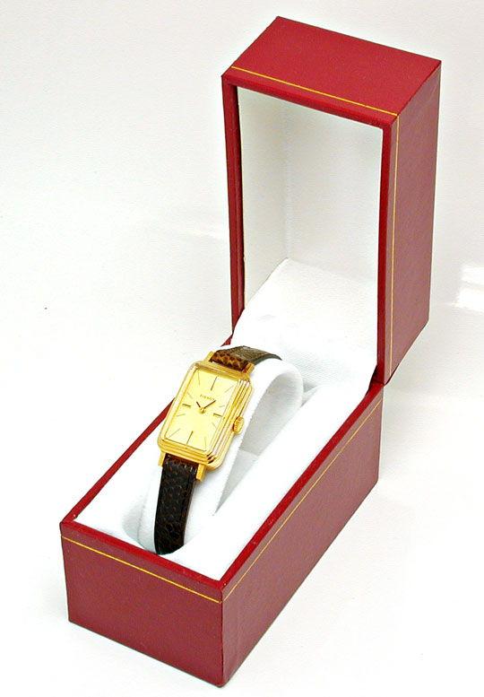 Foto 5, Tissot, Damen-Armbanduhr, 14K-Gelbgold Shop Ungetragen!, U1019