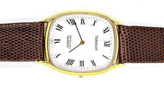 Foto 1, Tissot Herren-Armbanduhr 14K-Gelbgold Topuhr Ungetragen, U1020