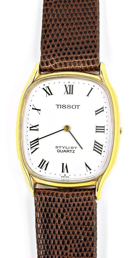 Foto 2, Tissot Herren-Armbanduhr 14K-Gelbgold Topuhr Ungetragen, U1020