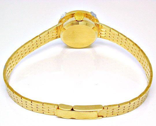 Foto 3, Dugena Diamant-Damenuhr 14K Gelbgold Top-Uhr Ungetragen, U1021