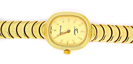 Foto 1, Tissot Damen-Armbanduhr 14K-Gelbgold Topuhr Ungetragen!, U1022