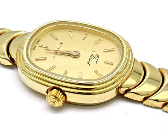 Foto 3, Tissot Damen-Armbanduhr 14K-Gelbgold Topuhr Ungetragen!, U1022