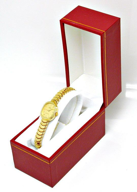 Foto 5, Tissot Damen-Armbanduhr 14K-Gelbgold Topuhr Ungetragen!, U1022