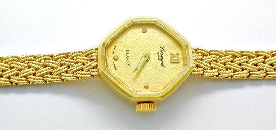 Foto 1, Tolle Damen-Armbanduhr, 14K-Gelbgold Topuhr Ungetragen!, U1023