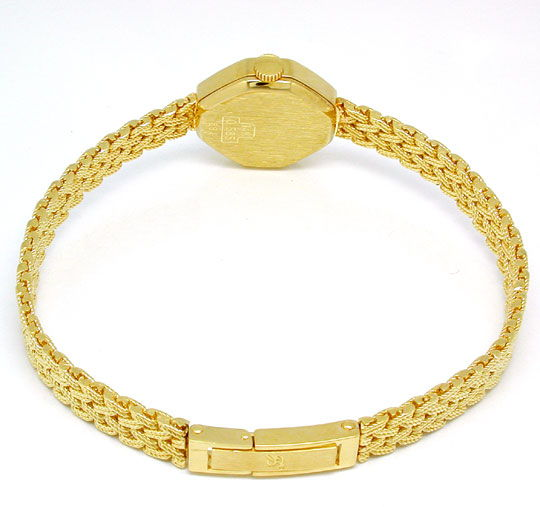 Foto 3, Tolle Damen-Armbanduhr, 14K-Gelbgold Topuhr Ungetragen!, U1023