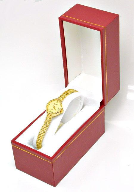 Foto 4, Tolle Damen-Armbanduhr, 14K-Gelbgold Topuhr Ungetragen!, U1023