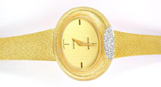 Foto 1, Dugena Diamant-Damenuhr 14K-Gelbgold Topuhr Ungetragen!, U1024