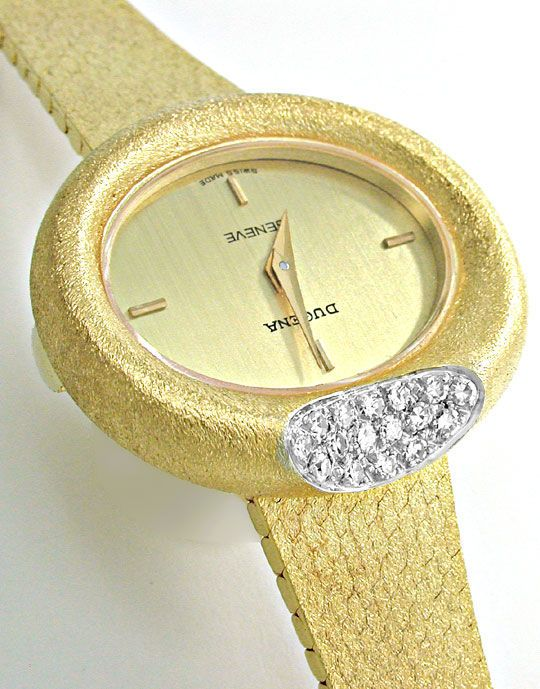 Foto 3, Dugena Diamant-Damenuhr 14K-Gelbgold Topuhr Ungetragen!, U1024