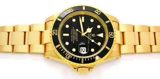 Foto 1, Rolex Submariner Date Datum Gelbgold Geprüft Neuzustand, U1029