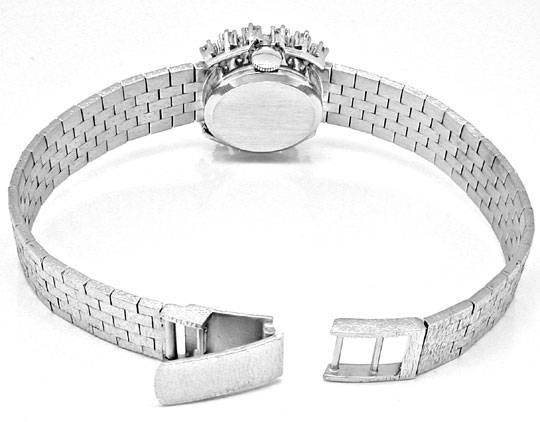 Foto 4, Damen-Diamanten-Armbanduhr, 18K-Weissgold 0,78ct Topuhr, U1030
