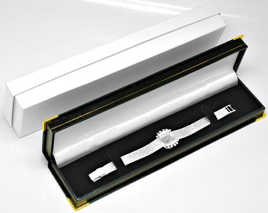 Foto 5, Damen-Diamanten-Armbanduhr, 18K-Weissgold 0,78ct Topuhr, U1030