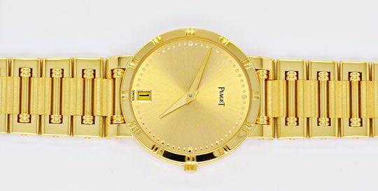 Foto 1, Piaget Dancer Herren-Armband-Uhr, 18K Gelb-Gold Geprüft, U1033