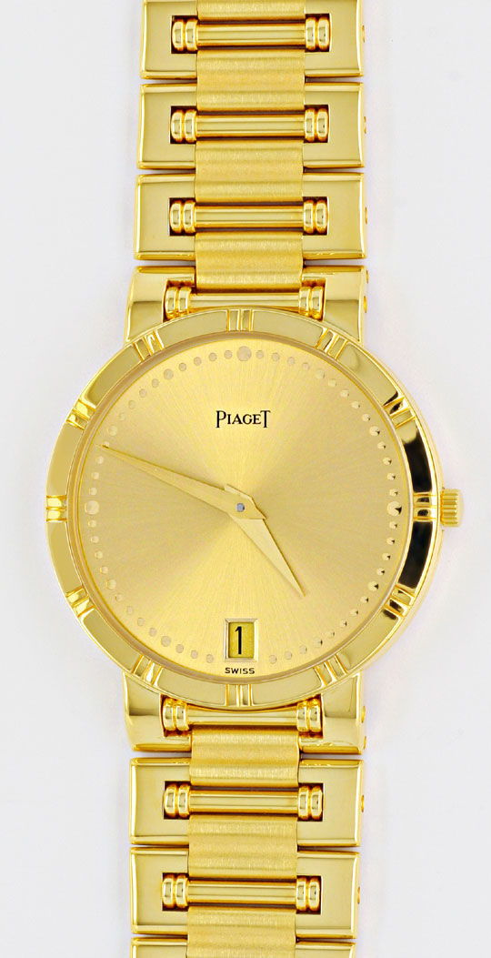 Foto 2, Piaget Dancer Herren-Armband-Uhr, 18K Gelb-Gold Geprüft, U1033