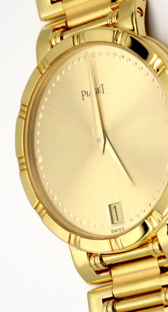 Foto 3, Piaget Dancer Herren-Armband-Uhr, 18K Gelb-Gold Geprüft, U1033