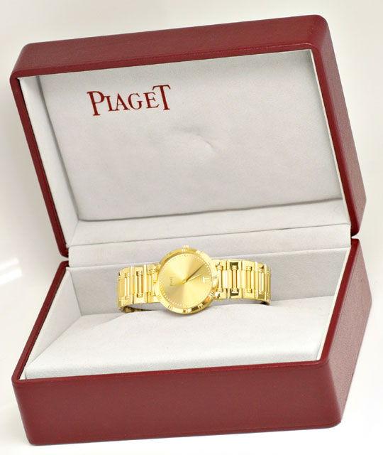 Foto 8, Piaget Dancer Herren-Armband-Uhr, 18K Gelb-Gold Geprüft, U1033
