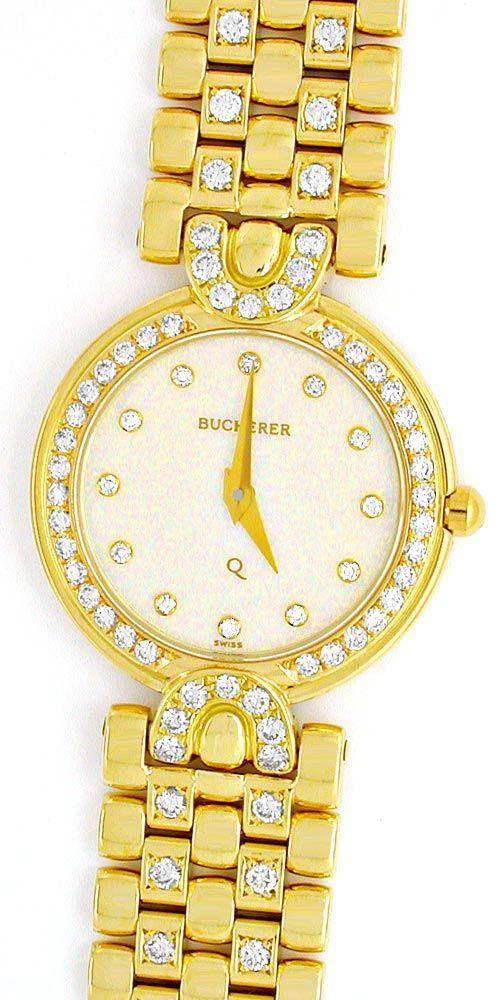 Foto 2, Bucherer Boheme Damenuhr Gold Brillanten Geprüft Neuz.!, U1034