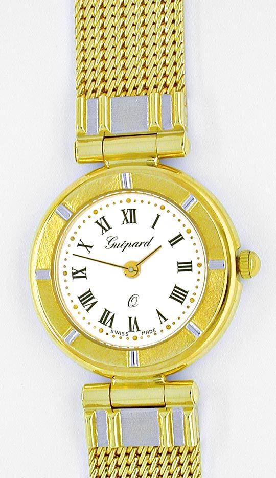 Foto 2, Guepard Damen-Armbanduhr massiv Gold Topuhr Ungetragen!, U1041