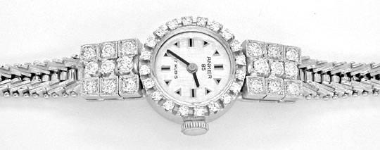 Foto 1, Diamant-Damen-Armbanduhr Weissgold 1.14ct Topuhr Neuz.!, U1043