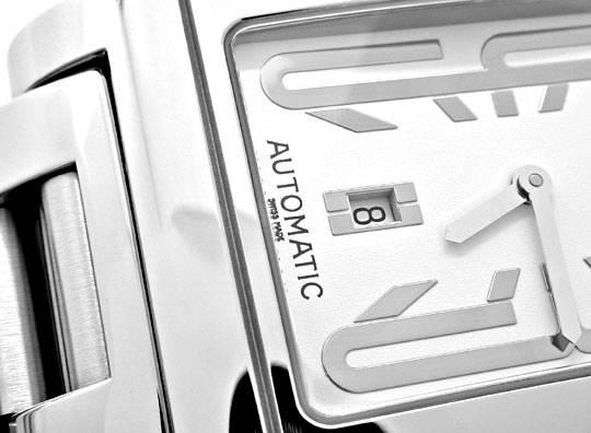 Foto 3, Bulgari Bvlgari Rettangolo Stahl Automatik Topuhr Neuw., U1046