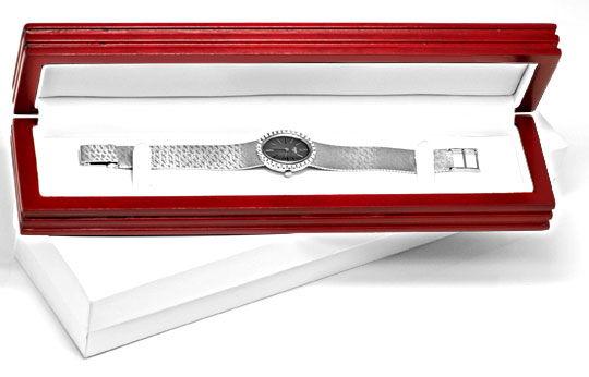 Foto 6, Brilliant-Damen-Uhr, 32 Diamanten, 18K Weissgold Topuhr, U1048