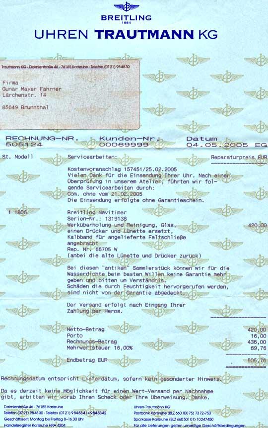 Foto 6, Breitling Navitimer Chrono-Matic, Ca.1970 Topuhr Neuw.!, U1049