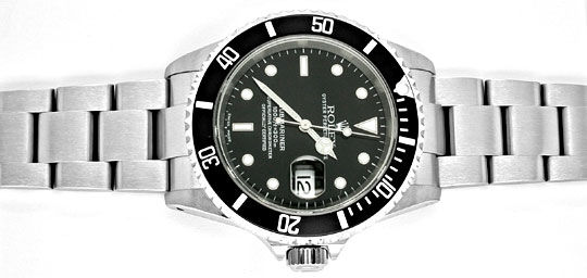 Foto 1, Rolex Submariner Date mit Datum Edelstahl Topuhr Neuz.!, U1052