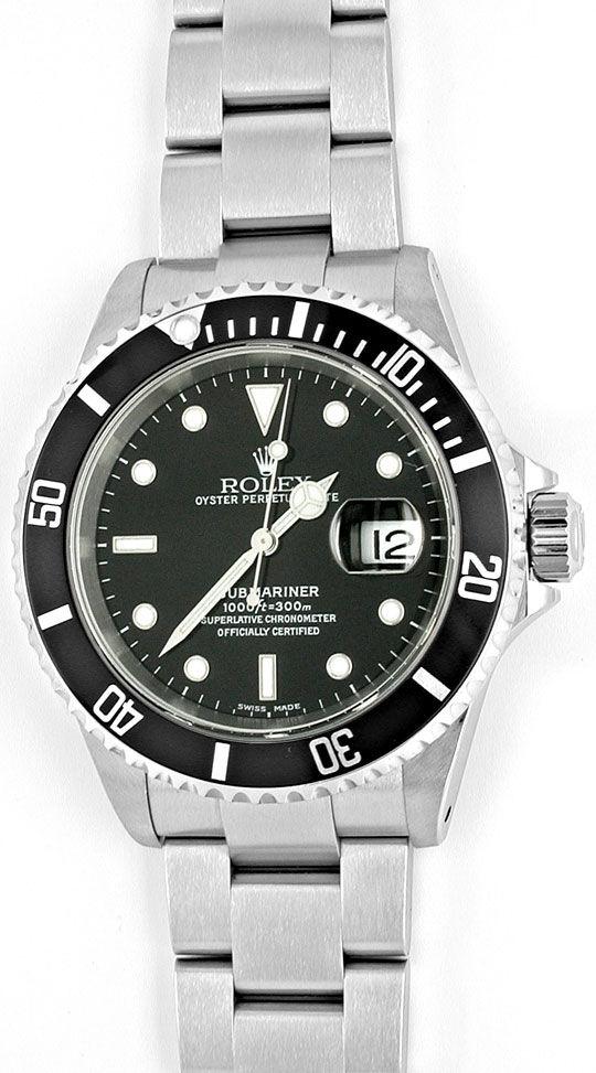 Foto 2, Rolex Submariner Date mit Datum Edelstahl Topuhr Neuz.!, U1052