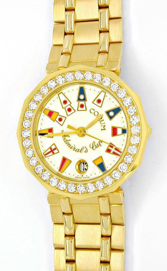 Foto 2, Corum, Admirals Cup Damen Gold Diamanten Geprüft Neuz.!, U1054