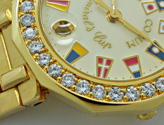 Foto 3, Corum, Admirals Cup Damen Gold Diamanten Geprüft Neuz.!, U1054