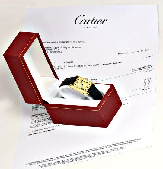 Foto 5, Cartier Tank Must.de Cartier Da Silber-Gold Topuhr Neuz, U1055