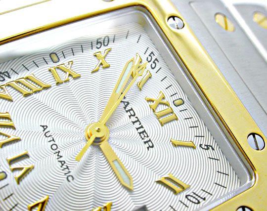 Foto 3, Cartier Santos Automatik Herren Stahlgold Topuhr Neuz.!, U1056
