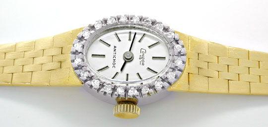 Foto 1, Damenuhr Diamanten Gelbgold Weissgold Topuhr Neuzustand, U1057
