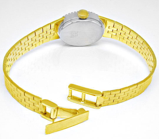 Foto 3, Damenuhr Diamanten Gelbgold Weissgold Topuhr Neuzustand, U1057