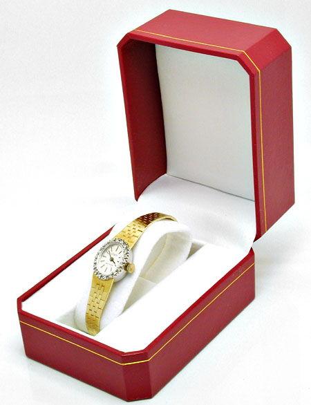 Foto 4, Damenuhr Diamanten Gelbgold Weissgold Topuhr Neuzustand, U1057