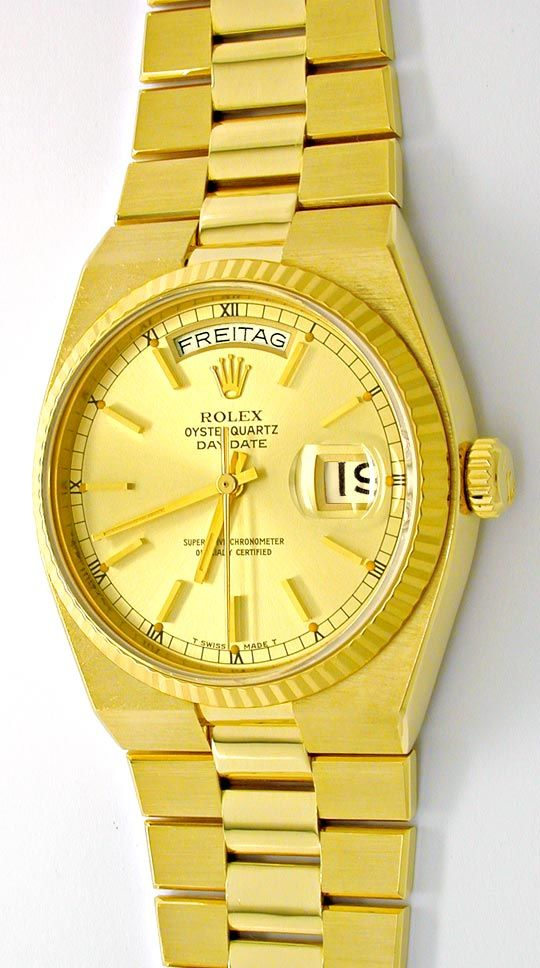Foto 2, Rolex Day Date, Quarz Chronometer Geprüft F.Neuzustand!, U1058