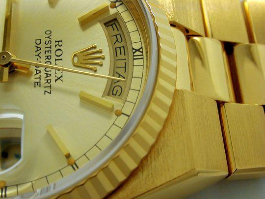 Foto 3, Rolex Day Date, Quarz Chronometer Geprüft F.Neuzustand!, U1058