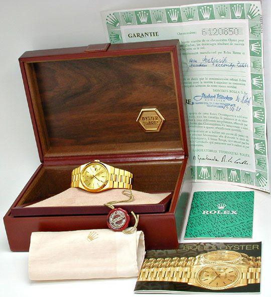 Foto 5, Rolex Day Date, Quarz Chronometer Geprüft F.Neuzustand!, U1058